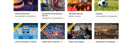 Sample of Futurelearn's catalogue