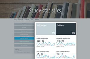 Screen shot of Study Page statistics